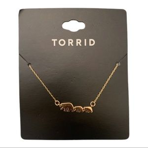 3/$25 Torrid Gold-Tone Delicate Mama Bear Necklace